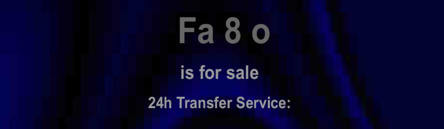 Fa 8o .com is for sale. 10% of the sale value will be donated to World Animal Protection, if the domain is purchased via ebay.